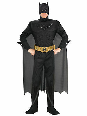 Batman Deluxe Muscle The Dark Knight DC Superhero Licensed Men Costume