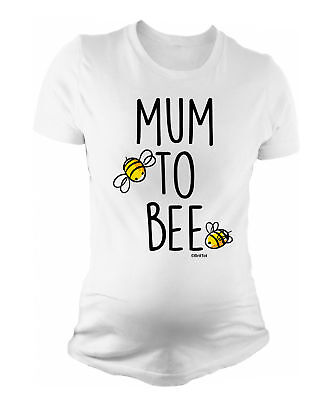 Ladies MATERNITY T-Shirt Mum To Bee Funny Womens PREGNANCY Baby Shower Gift
