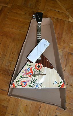 New Painted Original Classic Russian Balalaika Three 3 Strings Prima (Ukraine)