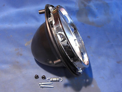 "Jaguar Daimler 7"" Headlamp Bowl & Inner Rims Kit Mk 2 V8 Xj6 Xj12 S-Type Hlb1Com"