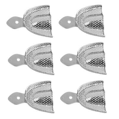 6x Stainless Steel Dental Autoclavable metal Impression Trays Upper&Lower