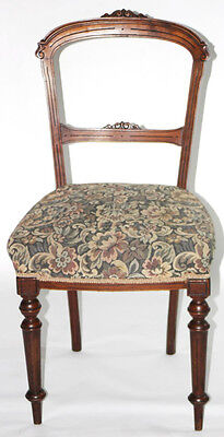Antique Walnut Balloon Back Chair - FREE Shipping [PL2693]