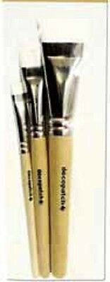 DECOPATCH PRODUCTS Pack of 3 HOG BRISTLE BRUSHES CLDPPACK3PC