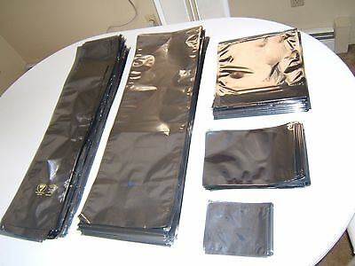Anti Static Esd Bags. Lot Of (5) Sizes. See Description For Details.unused