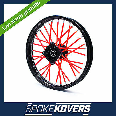 Couvre Rayons Rouge Motocross Mx Enduro Roue Jante Spoke Covers Skins Pit