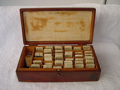 325+ CUTWELL BURS ANTIQUE DENTAL TOOLS IN ORIGINAL WOODEN BOX Very Rare Vintage
