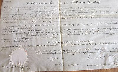 Final President-Founding Father James Monroe, George Graham Sign Land Grant