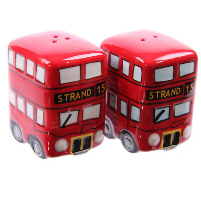 Fun Novelty Routemaster Red Bus Salt and Pepper Set.