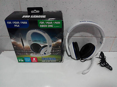 Cascos Subsonic - Tactical Pro League - Blanco Para PS4/Xbox One