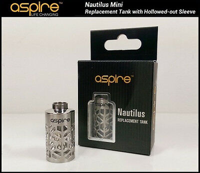 Aspire Nautilus Mini 2ml Hollowed Out Sleeve Metal w Glass SAME DAY SHIP!
