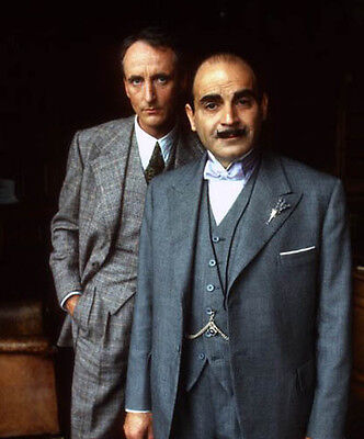 David Suchet and Hugh Fraser UNSIGNED photo - H6002 - Poirot