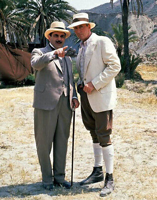 David Suchet and Hugh Fraser UNSIGNED photo - H6013 - Poirot