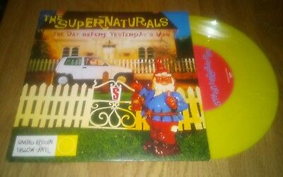 """The Supernaturals The Day Before Yesterdays Man 7"""" Vinyl Single Record Yellow"""