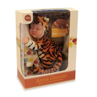 ANNE GEDDES 'Baby Tiger' Bean Filled Soft Doll - New in Box