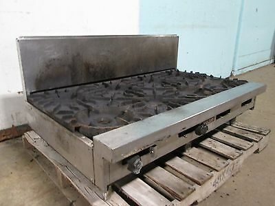 """"""" Vulcan """" Heavy Duty Commercial Natural Gas Counter-Top 8 Burner Stove/range"""