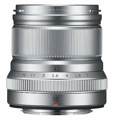 FUJIFILM Single Focus Medium Telephoto Lens XF50mmF2 R WR S  Silver 50mm New