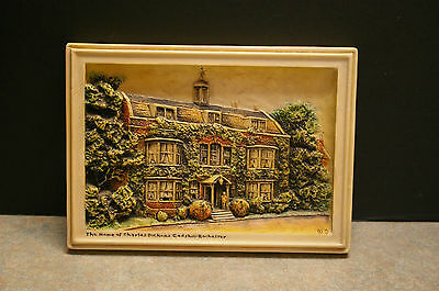 Arthur Osborne 'ivorex' 'the Home Of Charles Dickens Gadshill' Wall Plaque
