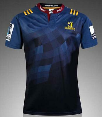 New Zealand 2016  Highlanders rugby jersey Shirt Tops Quality SIZE: S-XXXL