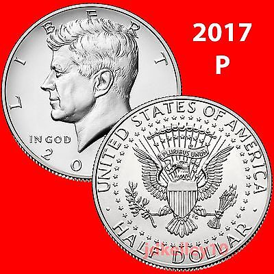 (2) 2017-P Kennedy Half Dollar 2 Coin Set - Uncirculated Coins Us Mint