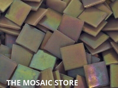 Lilac Iridised Glass Mosaic Tiles 2cm - Mosaic Art & Craft Supplies