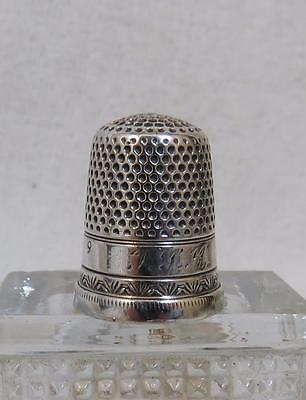 Antique 19th Century Sterling or Coin Silver Thimble size 9