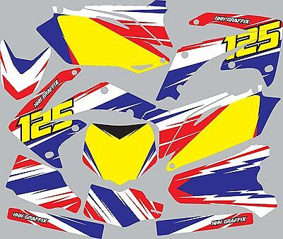 Graphic Kit for 1998-1999 Honda CR125 CR 125 shrouds fender plastic decals