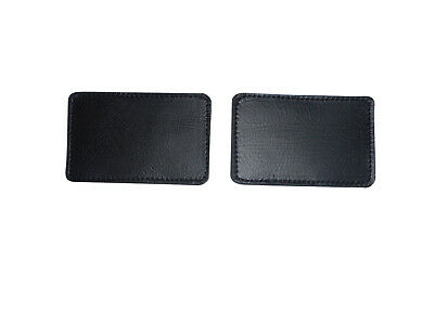 Firefighter black safety leather helmet patch identifier 1 pair Made in USA.