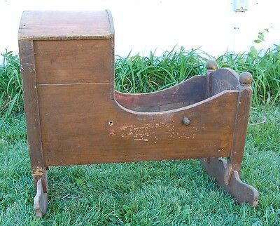 Antique Hooded Baby Bed Primitive