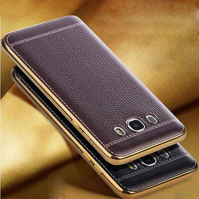 Brown Luxury Ultra-thin PU Leather TPU Softphone Case Cover For Various Phones