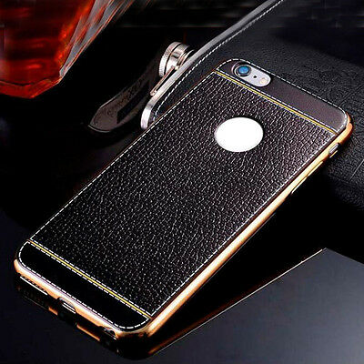 Black Luxury Ultra-thin PU Leather TPU Softphone Case Cover For Various Phones