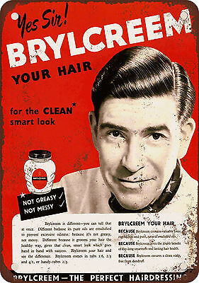 "7"" x 10"" Metal Sign - 1953 Brylcreem for Hair - Vintage Look Reproduction"
