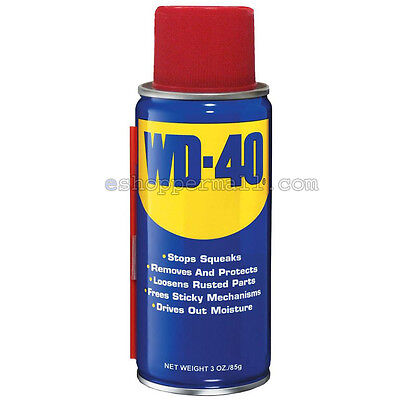 WD-40 Two-Ways Spray Lubricant Aerosol Can Portable - 3 oz Multi-Use AD-2015