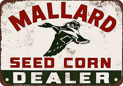 "7"" x 10"" Metal Sign - 1964 Mallard Seed Corn Dealer - Vintage Look Reproduction"
