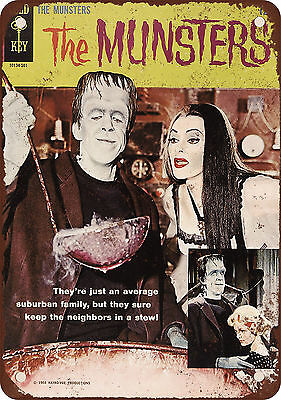 "7"" x 10"" Metal Sign - 1965 The Munsters Comic - Vintage Look Reproduction"