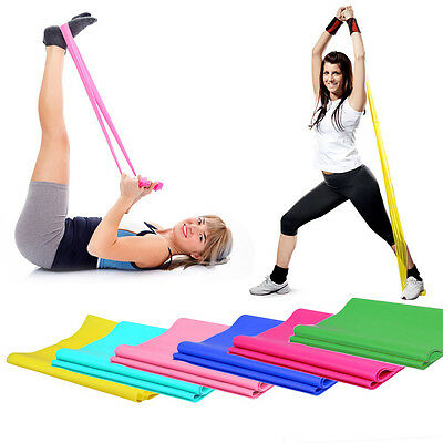 1.2m Yoga Pilates Gym Practice Elastic Rubber Stretch Band Aerobics Durable