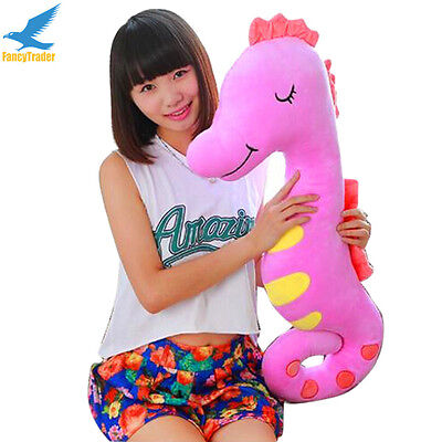 New Funny 55'' Plush Stuffed Sea Horse Toy Soft Baby Kid Girl Doll Gift 5 Colors