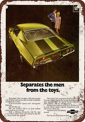 "7"" x 10"" Metal Sign - 1970 Chevrolet Camaro Z28 - Vintage Look Reproduction"