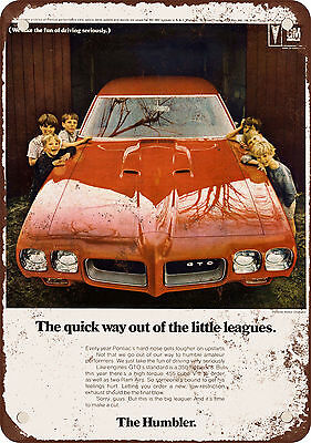 "7"" x 10"" Metal Sign - 1970 Pontiac GTO - Vintage Look Reproduction"