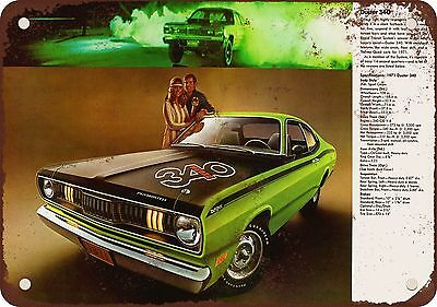 "7"" x 10"" Metal Sign - 1971 Plymouth Duster 340 - Vintage Look Reproduction"