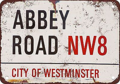 "7"" x 10"" Metal Sign - Beatles Abbey Road - Vintage Look Reproduction"