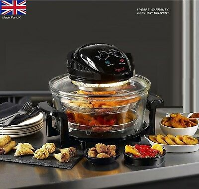 17 Litre High Quality Halogen Convection Oven Cooker Extender Ring New Black