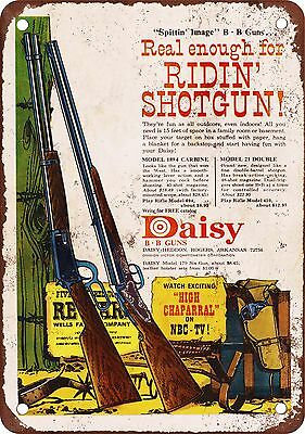 "7"" x 10"" Metal Sign - Daisy BB Guns - Vintage Look Reproduction"