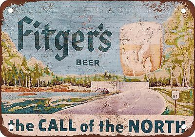 "7"" x 10"" Metal Sign - Fitger's Beer - Vintage Look Reproduction"