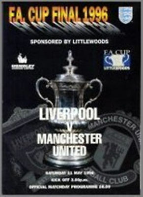 1996 FA Cup Final Manchester United vs Liverpool Programme