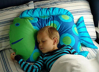 Blue Fish Fancy Cartoon Animal Baby Kid Bedding Pillow Pillowcase Soft Plush Toy