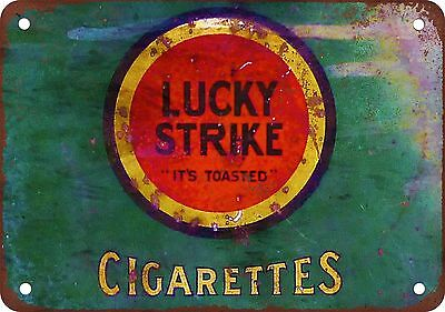 "7"" x 10"" Metal Sign - Lucky Strike Cigarettes - Vintage Look Reproduction"