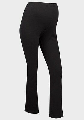 Black Over Bump Maternity Casual Jogging Yoga Lounge Wear Trousers Sizes 8-20