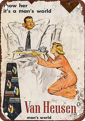 "7"" x 10"" Metal Sign - Sexist Van Heusen - Vintage Look Reproduction"