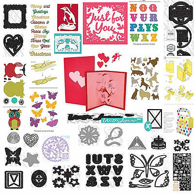 Xcut Dinky Mini Sentiments A5 A4 Large Die Cutter Sets Small Dies - ALL SIZES