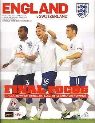 2011 Euro 2012 Qualifier England vs Switzerland
